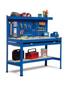 Stół warsztatowy z szufladą i tablicą na narzędzia