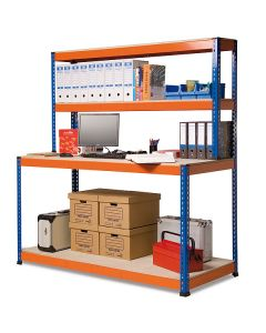 Stół roboczy z nadstawką i dolną półką